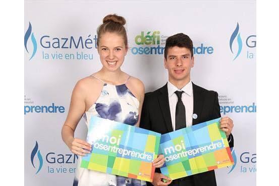 Émilie Gaudreault et Brandon Girard, vice-présidente et président... (Photo courtoisie)
