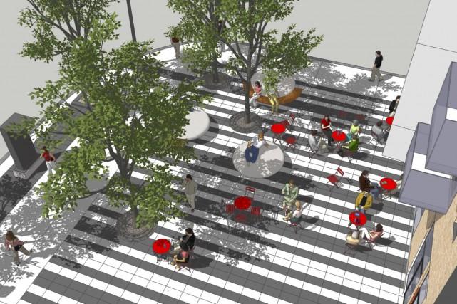L'espace public situé à l'angle de l'avenue Cartier... (Fournie par la Ville de Québec)