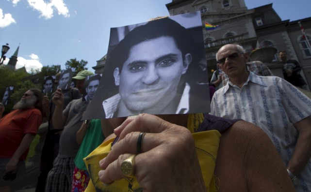 Les partisans sherbrookois de Raïf Badawi se sont... (Spectre Média, René Marquis)