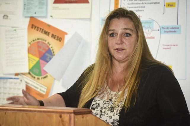 Patricia Dellow, directrice générale du Centre d'entraide aux... (François Gervais)