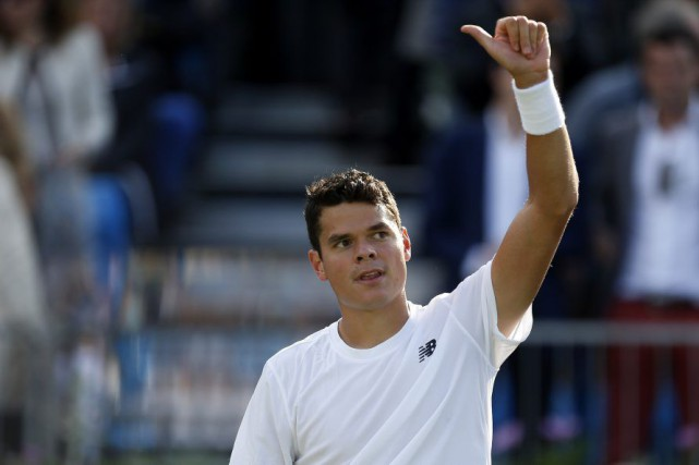 Milos Raonic... (PHOTO STEVE PASTON, AP)