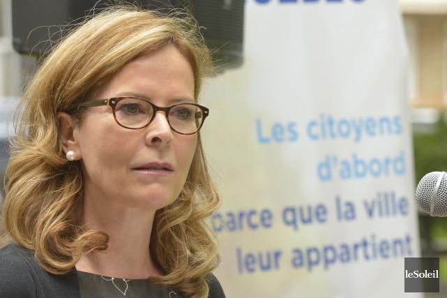 Anne Guérette a confirmé dimanche matin qu'elle briguerait... (Le Soleil, Jean-Marie Villeneuve)