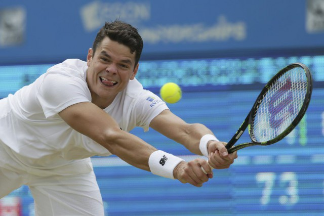 Milos Raonic... (PHOTO TIM IRELAND, AP)