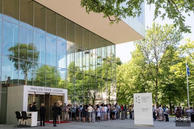 L'ouverture de l'expositionLe fabuleux destin des tableaux des abbés... (Photothèque Le Soleil)