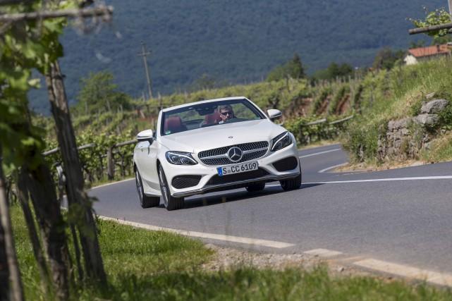 La Mercedes Classe C Cabriolet...