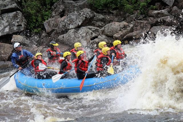 La rivière Mistassibi a donné des sensations fortes... (Photo courtoisie, Sophie Lavoie)