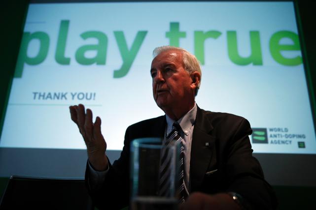 Le président de l'Agence mondiale antidopage, Craig Reedie.... (Photo Adrian Dennis, AFP)
