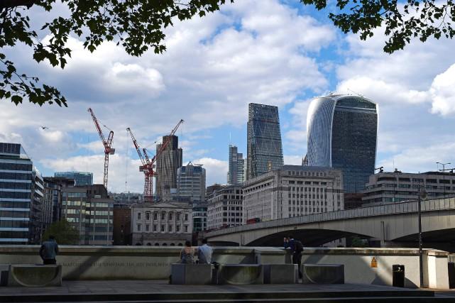 La City de Londres se prépare à une... (PHOTO AFP)