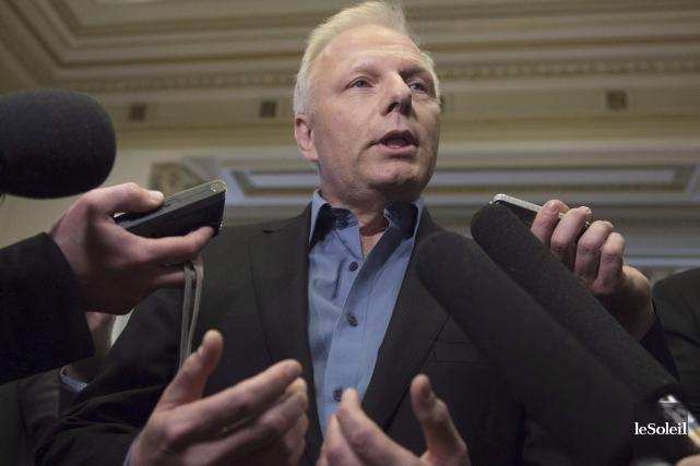 Le candidat à la direction du Parti québécois,... (Photothèque Le Soleil)