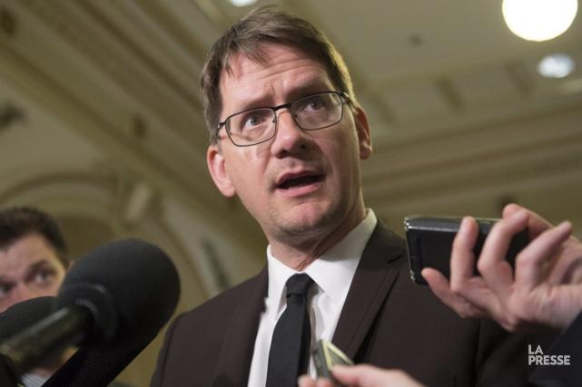 Le chef par intérim du Parti québécois, Sylvain... (Archives La Presse Canadienne)
