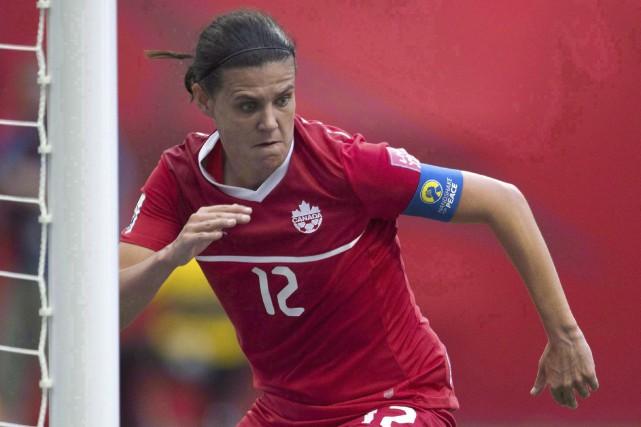 Christine Sinclair sera à nouveau la tête d'affiche... (La Presse Canadienne, Jonathan Hayward)
