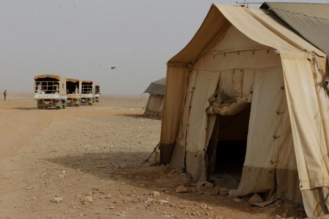 Il s'est produit dans unno man's landdésertique dans... (Photo Muhammad Hamed, Reuters)