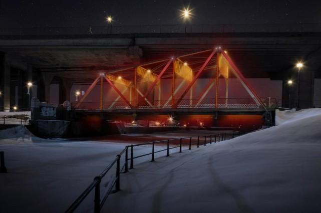 Six passerelles et ponts de l'arrondissement du Sud-Ouest... (PHOTO FOURNIE PAR MONTRÉAL EN HISTOIRES)