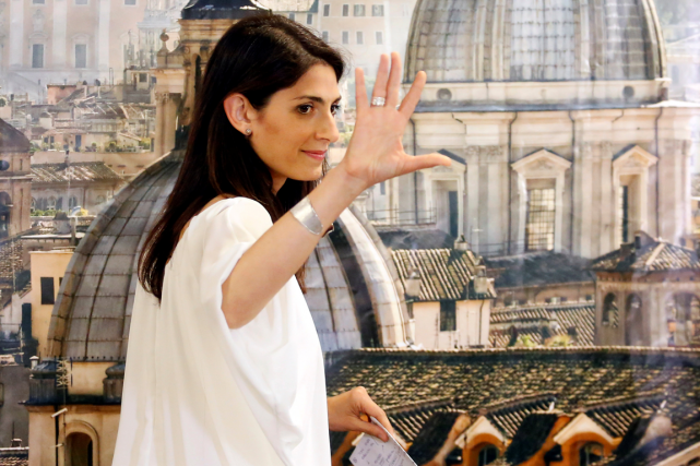 La nouvelle mairesse de Rome, Virginia Raggi.... (Photo Remo Casilli, Reuters)