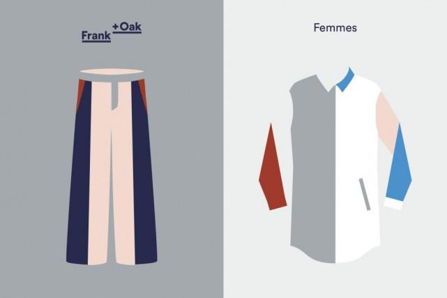 La marque montréalaise de vêtements Frank + Oak... (Image fournie par Frank+Oak)