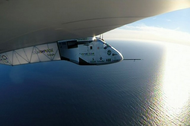 Solar Impulse 2, pas plus lourd qu'une fourgonnette,... (Photo Solar Impulse 2 via AFP)