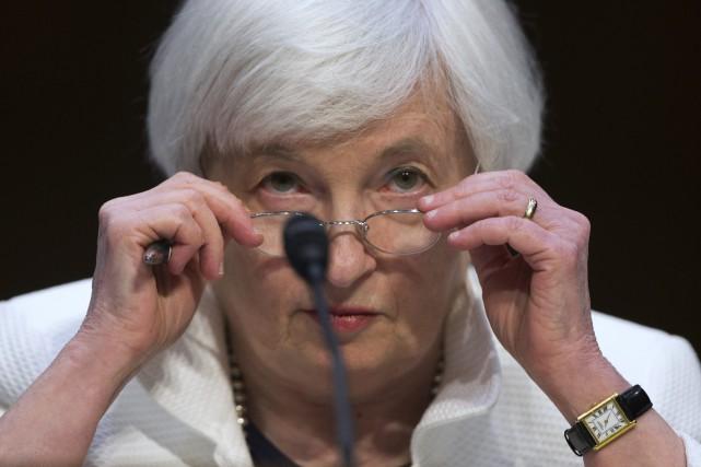 La présidente de la Réserve fédérale américaine, Janet... (Photo Evan Vucci, AP)