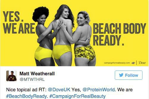 Cette publicité a soulevé la grogne chez les... (Photo tirée de Twitter)