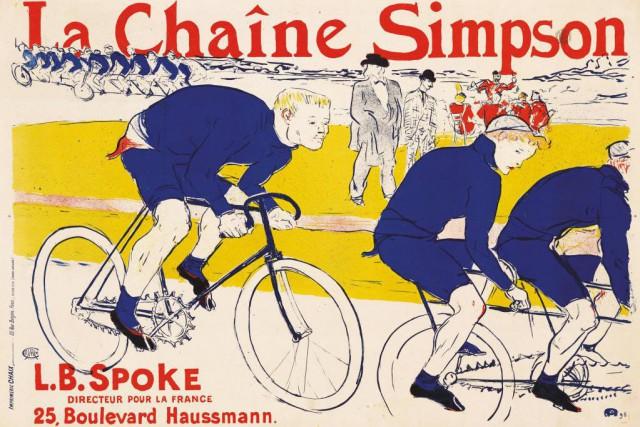 La chaîne Simpson, 1896, de Henri de Toulouse-Lautrec.Lithographie... (Photo Peter Schälchi, fournie par le MBAM)