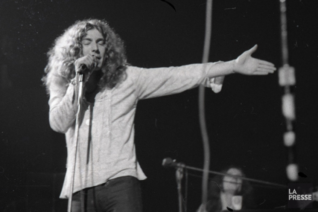 Robert Plant à Montréal en avril 1970.... (PHOTO PIERRE MCCANN, ARCHIVES LA PRESSE)