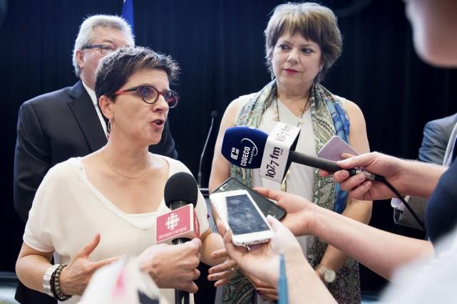 La directrice générale du Cégep de Sherbrooke, Marie-France-Bélanger,... (Spectre Média, Jessica Garneau)