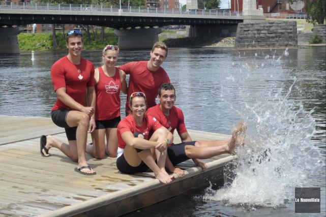 Les athlètes du Club de canoë-kayak de Trois-Rivières... (Sylvain Mayer, Le Nouvelliste)