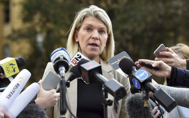 La responsable de la délégation olympique australienne, Kathy... (AFP, William West)