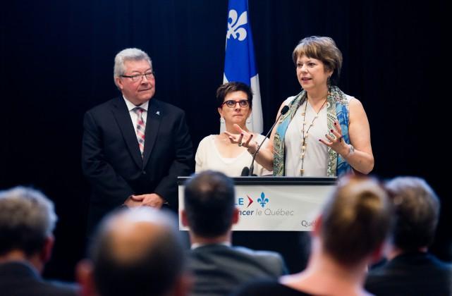 La ministre de l'Enseignement supérieur, Mme Hélène David,... (Spectre Média, Jessica Garneau)