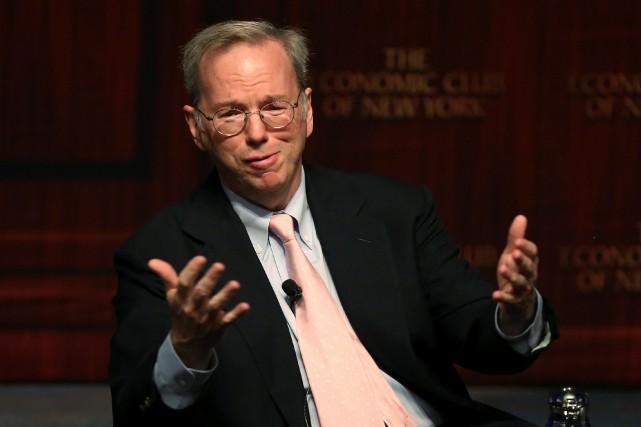 Eric Schmidt, ancien directeur exécutif de Google et... (Photo Carlo Allegri, REUTERS)