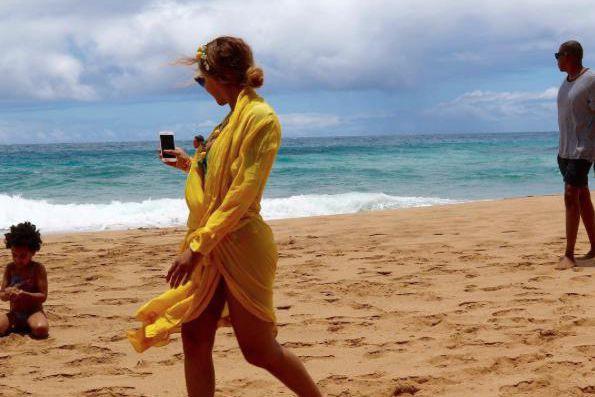 Beyoncé en vacances à Hawaii... (Photo tirée du compte Instagram de Beyoncé)