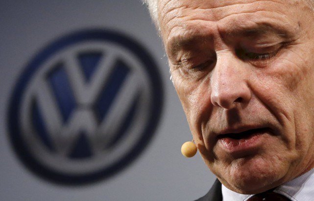 «Au nom du groupe Volkswagen (...), je demande... (Photo Mark Blinch, REUTERS)