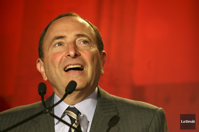 Le commissaire de la LNH, Gary Bettman... (Archives, LeDroit)