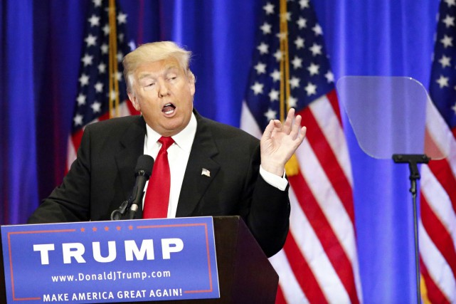 Donald Trump estime qu'Hillary Clinton «est peut-être la... (PHOTO AFP, KENA BETANCUR)