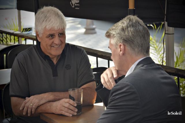 Alain Côté et Dave Pichette, deux des quatre... (Le Soleil, Pascal Ratthé)