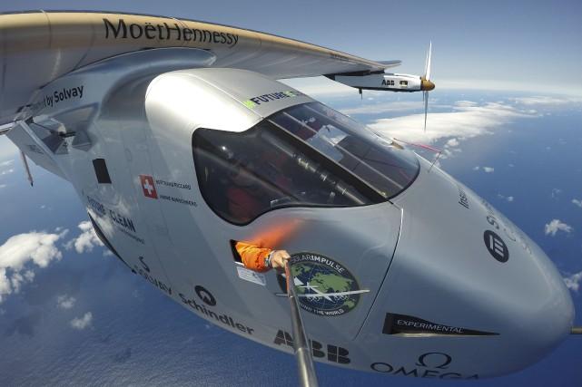 L'avion expérimental Solar Impulse 2 s'est posé à... (AP)