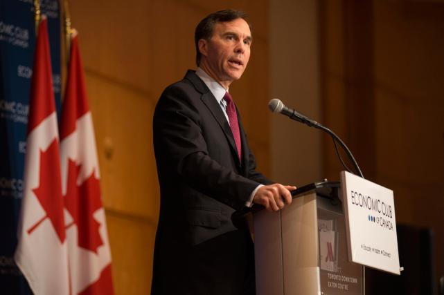Le ministre canadien des Finances, Bill Morneau, a... (Photo Eduardo Lima, PC)