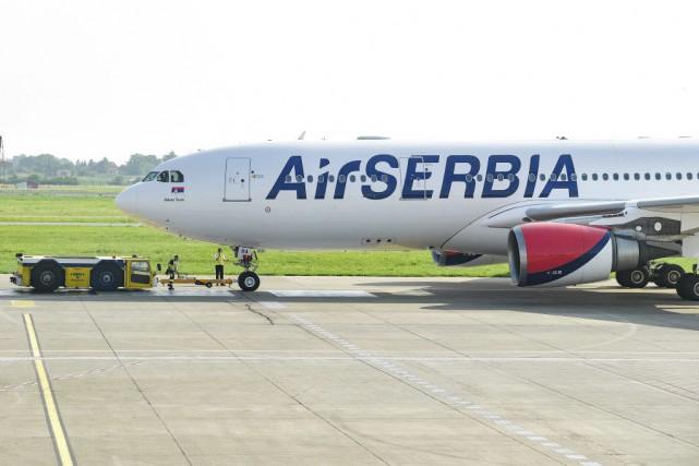 Un avion d'Air Serbia à destination de New York a décollé jeudi de Belgrade,... (PHOTO AFP)