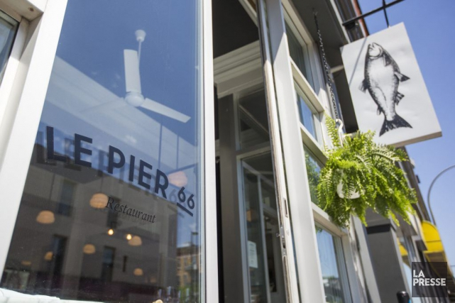 Pier66 est un restaurant consacré aux produits de la mer, rue Bernard, un peu... (PHOTO HUGO-SÉBASTIEN AUBERT, LA PRESSE)