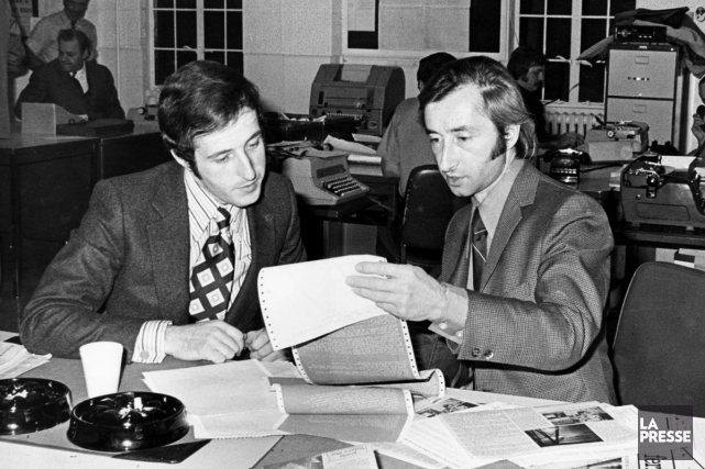 Bernard Derome, et Claude Jean Devirieux en octobre... (PHOTO ARCHIVES LA PRESSE)