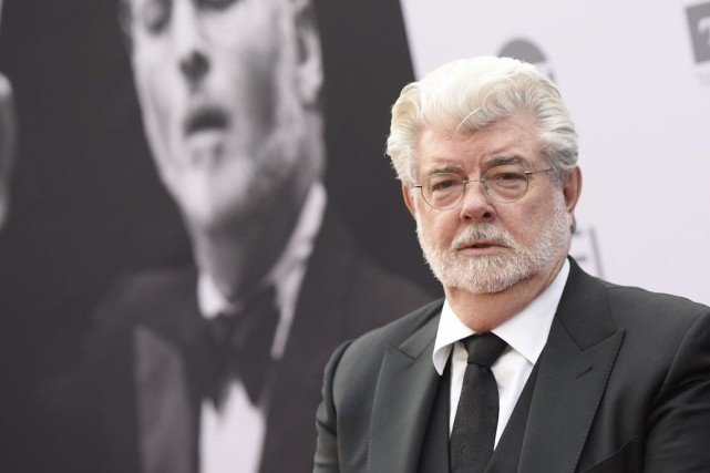 George Lucas... (PHOTO ANGELA WEISS, AFP)