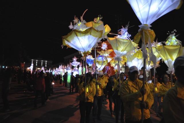 Un aperçu du Défilé des lanternes Desjardins qui... (Fournie par la Dame de coeur)