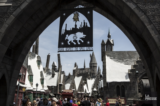 La construction de site de Harry Potter aura... (La Presse, Mathieu Waddell)