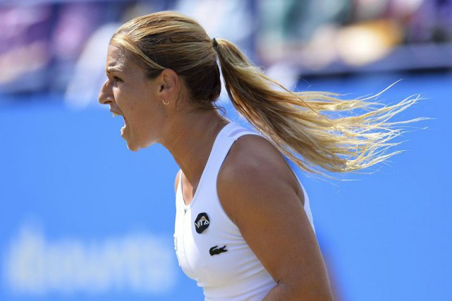 Dominika Cibulkova... (PHOTO GLYN KIRK, AFP)