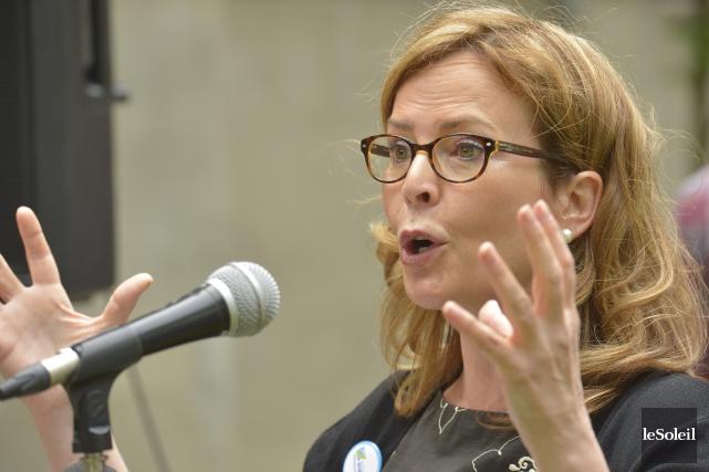 La conseillère de l'opposition à Québec, Anne Guérette,... (Le Soleil, Jean-Marie Villeneuve)