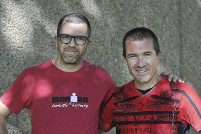Après avoir réussi les 100 kilomètres de l'ultramarathon... (Photo Le Progrès-dimanche, Rocket Lavoie)
