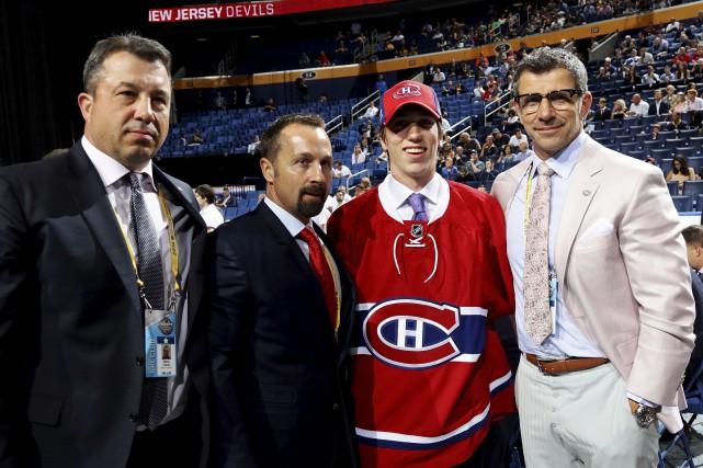En troisième ronde, le Canadien a sélectionné William... (AFP, Bruce Bennett)