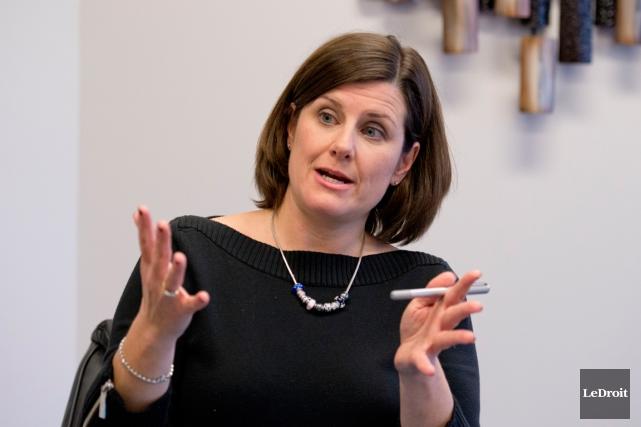 La ministre de la Justice,Stéphanie Vallée... (Archives Le Droit)