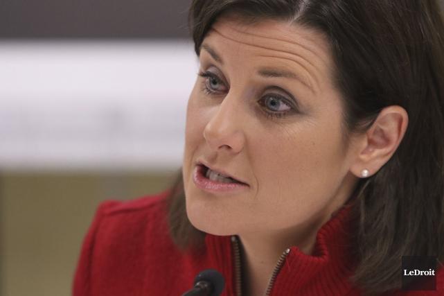 La ministre de la Justice, Stéphanie Vallée, a... (Archives Le Droit, Patrick Woodbury)