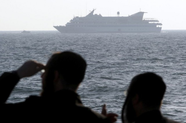 Le Mavi Marmara faisait partie d'une flottille internationale de six... (PHOTO AMIR COHEN, archives REUTERS)