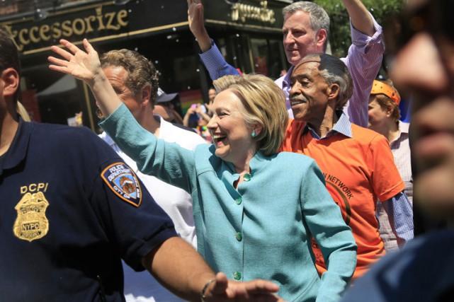 L'ancienne sénatrice de New York s'est ralliée, tout... (PHOTO AP)